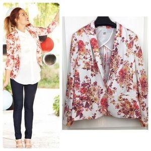 Lauren Conrad Floral Single Button Blazer